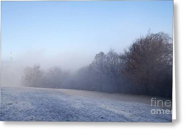 Winter Landscape Greeting Card by Odon Czintos
