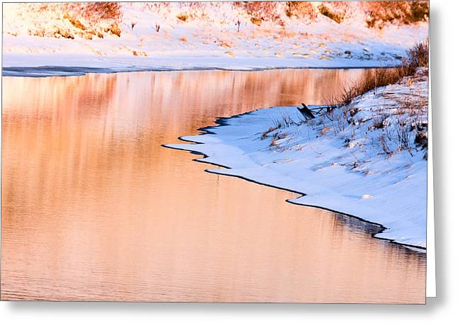 Winter Scene At Sunset Greeting Card