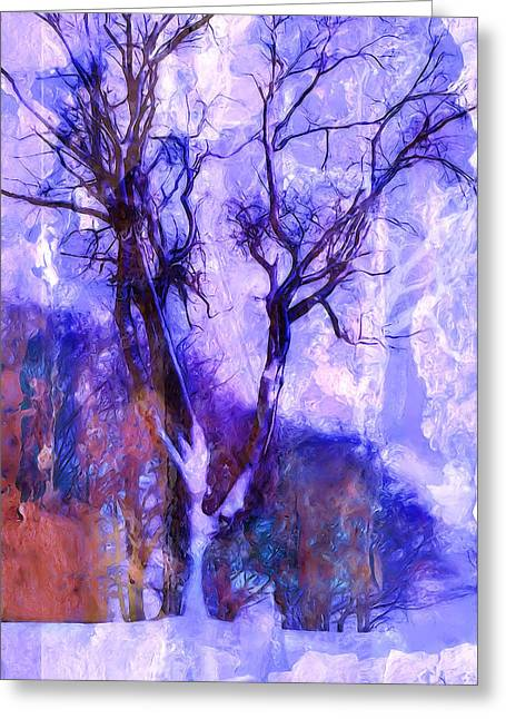 Winter Tree Greeting Card by Ron Jones
