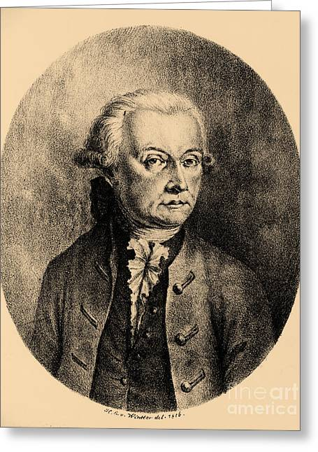 Wolfgang Amadeus Mozart, Austrian Greeting Card by Photo Researchers, Inc.