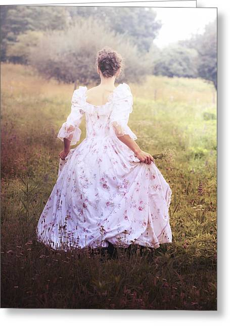 Woman In A Meadow Greeting Card by Joana Kruse