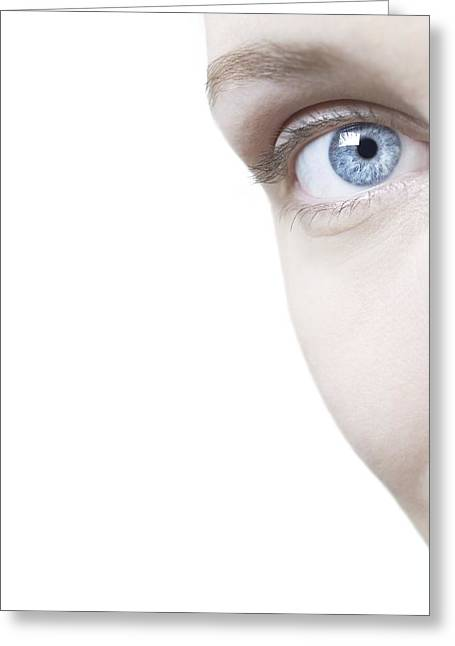 Woman's Eye Greeting Card by