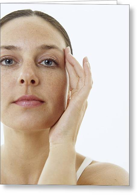 Woman's Face Greeting Card