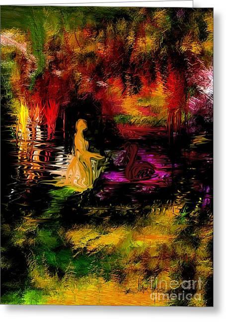Greeting Card featuring the digital art Wonderworld by Leo Symon