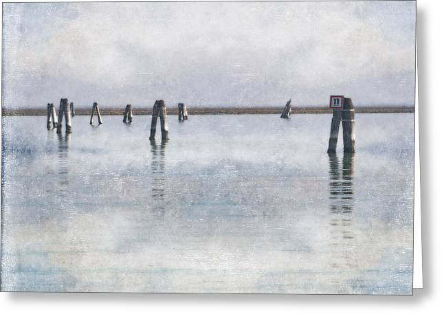 wood piles in the lagoon of Venice Greeting Card by Joana Kruse