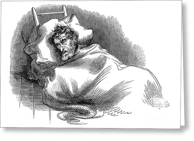 Wounded John Brown, 1859 Greeting Card by Granger
