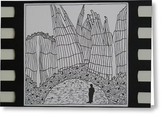 Wtc Study In Frame Greeting Card
