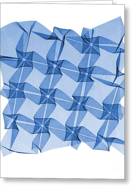 X-ray Of Mathematical Origami Greeting Card by Ted Kinsman