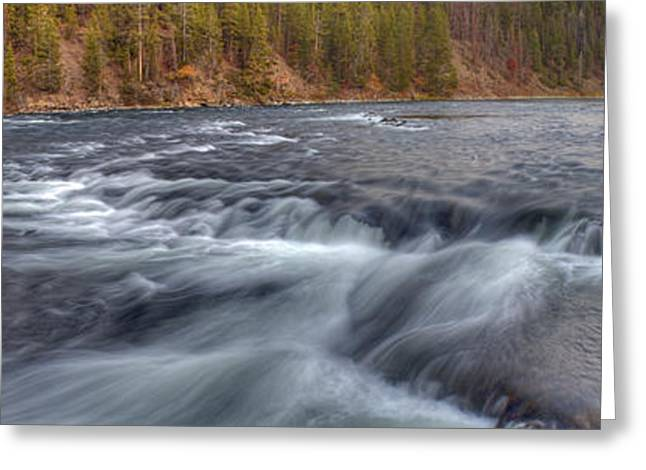 Yellowstone River Rapids Greeting Card by Twenty Two North Photography