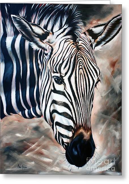 Zebra Greeting Card by Ilse Kleyn