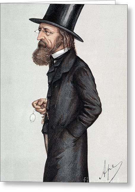 Alfred Tennyson (1809-1892) Greeting Card by Granger