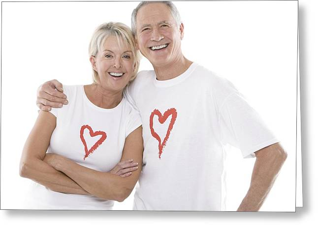 Happy Senior Couple Greeting Card by