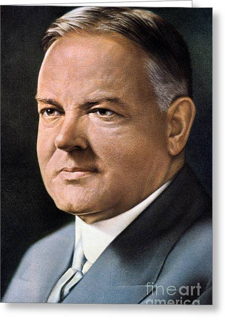 Herbert Hoover (1874-1964) Greeting Card by Granger