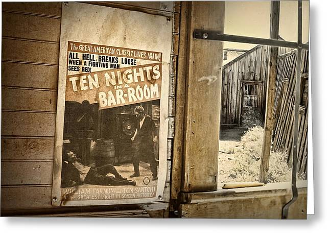 10 Nights In A Bar Room Greeting Card by Scott Norris