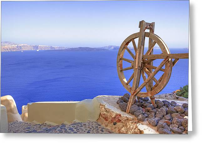 Oia - Santorini Greeting Card