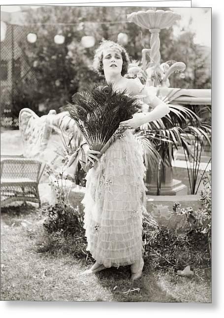 Silent Film Still: Woman Greeting Card by Granger