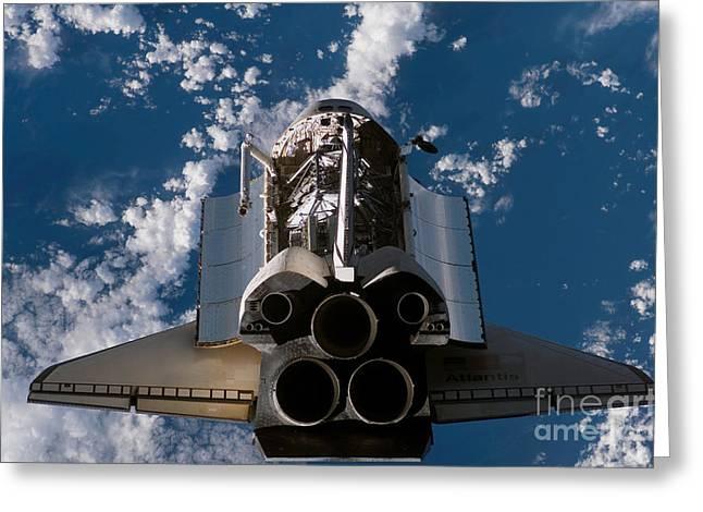 Space Shuttle Atlantis Greeting Card by Stocktrek Images