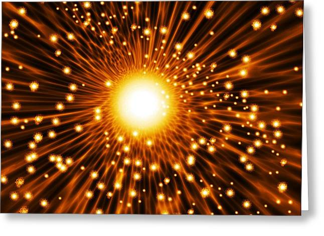 Supernova Explosion, Artwork Greeting Card