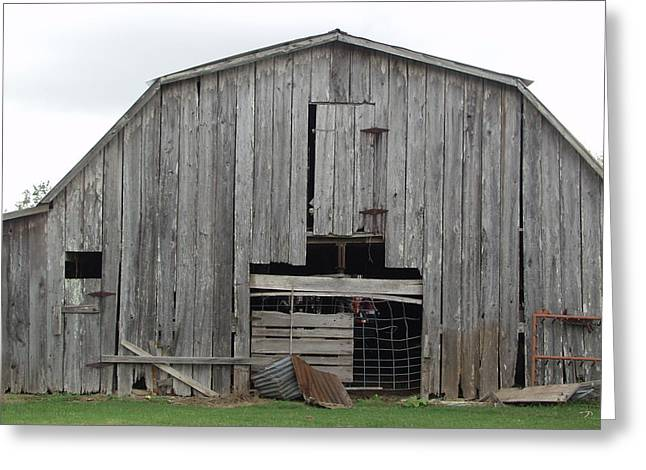Barn Greeting Card by Ronald Olivier