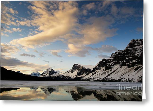 Bow Lake Greeting Card by Ginevre Smith