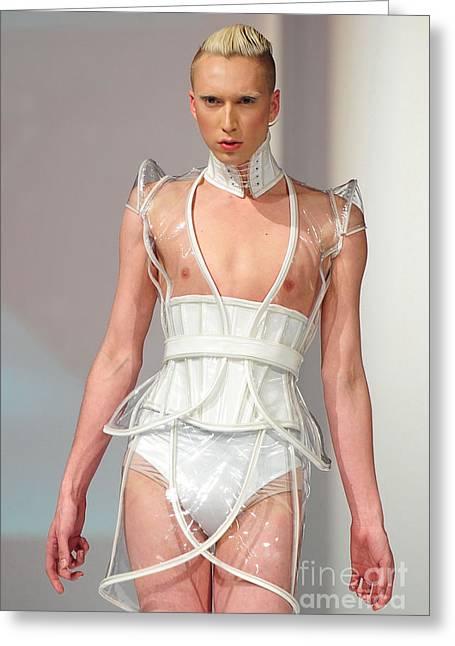 Fat Fashion Art Toronto Futurescape  Greeting Card by Andrea Kollo