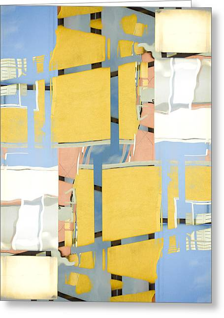 Urban Abstract San Diego Greeting Card