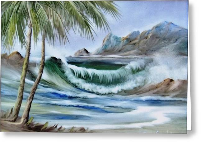 1132b Waterwave Scene Greeting Card by Wilma Manhardt