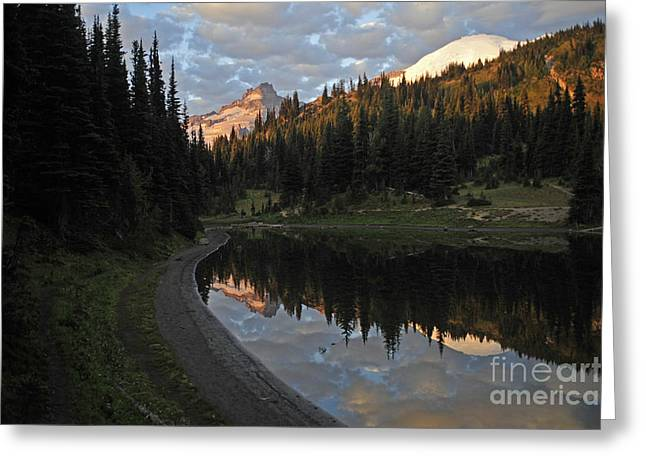 #12-4 Sunrise Mt Rainier Greeting Card