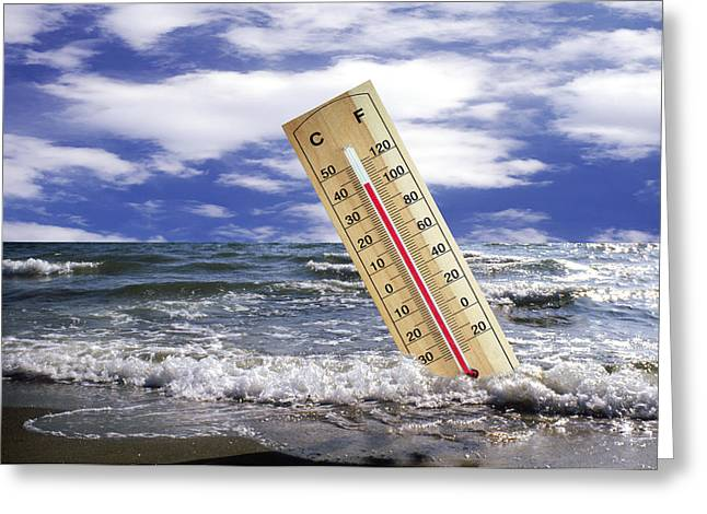 Global Warming, Conceptual Image Greeting Card by Victor De Schwanberg