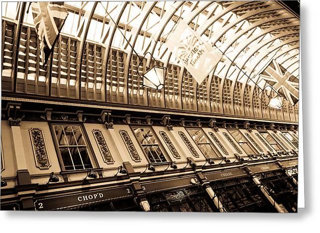 Leadenhall Market London Greeting Card by David Pyatt