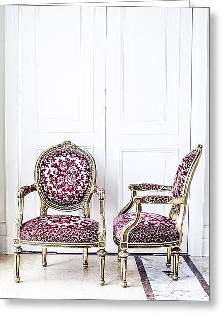 Luxury Antique Chair. Greeting Card by Chavalit Kamolthamanon