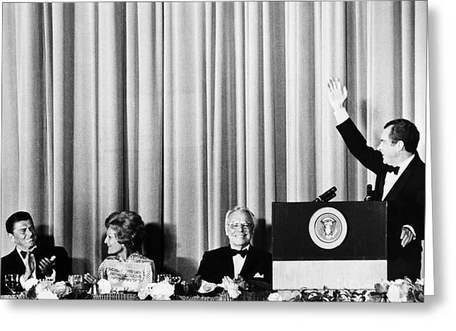 Richard Nixon (1913-1994) Greeting Card by Granger