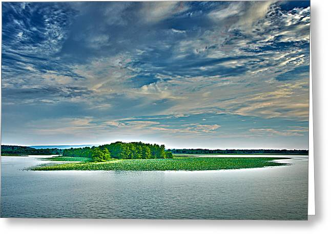 1206-9119 Arkansas River At Spadra Park  Greeting Card by Randy Forrester