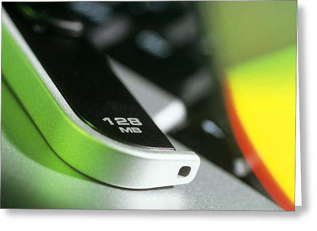 128mb Usb Memory Stick Greeting Card by Steve Horrell