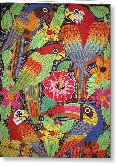 Birds Of Panama Greeting Card by Kathy Othon