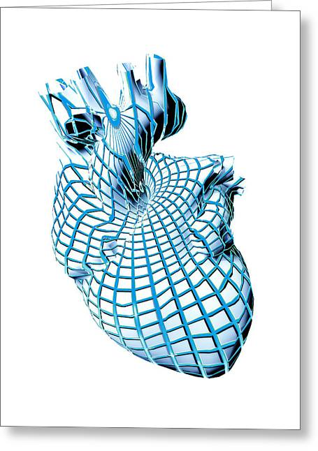 Human Heart, Artwork Greeting Card