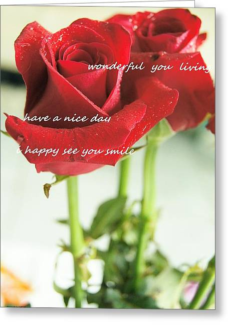 Roses Greeting Card by Gornganogphatchara Kalapun