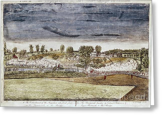 Battle Of Concord, 1775 Greeting Card by Granger