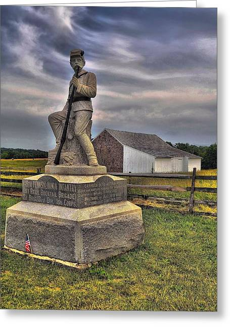 149th Pennsylvania Infantry Greeting Card by Dave Sandt