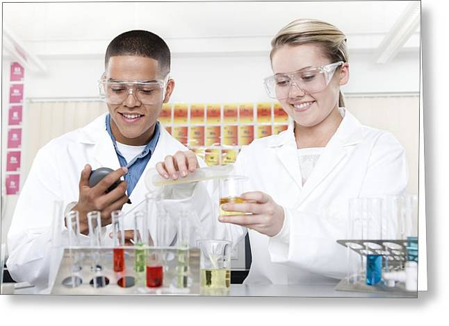 Chemistry Lesson Greeting Card by