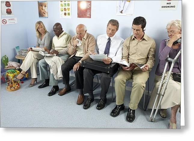 General Practice Waiting Room Greeting Card by Adam Gault