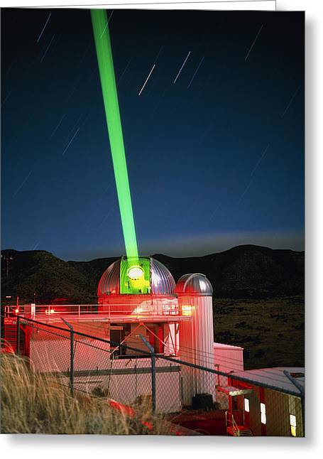 1.5m Telescope With Laser, Starfire Optical Range Greeting Card by David Parker