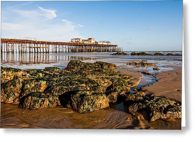 Hastings Pier Greeting Card by Dawn OConnor