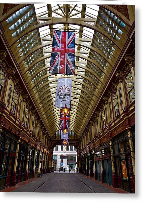 Leadenhall Market London Greeting Card by David Pyatt