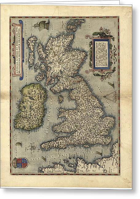 16th Century Map Of The British Isles Greeting Card by Library Of Congress, Geography And Map Division