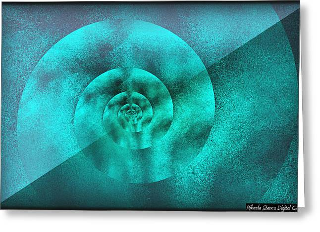 Figurative Shells Greeting Card by Mihaela Stancu