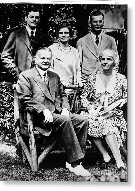 Herbert Hoover (1874-1964) Greeting Card by Granger