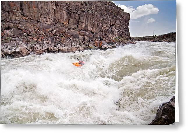 Kayaking Greeting Card by Elijah Weber