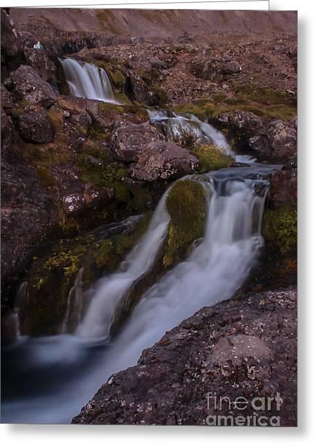 Waterfall Greeting Card by Jorgen Norgaard