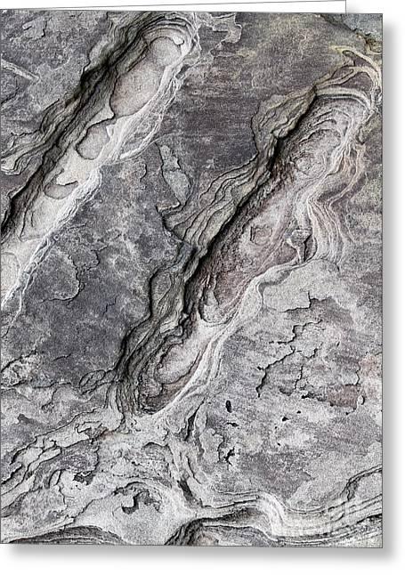 Natures Rock Art Greeting Card by Jack R Brock